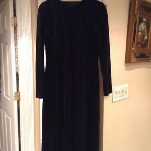 Long velvet custom made maxi gown NEW